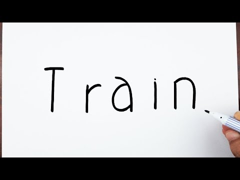 How To Draw A Train Using The Word Train