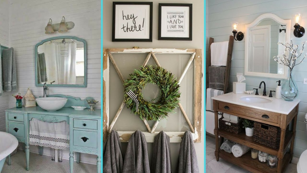 Diy Shabby Chic Style Bathroom Decor Organization Ideas Home