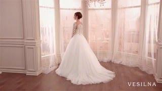 Свадебное платье А силуэт с шлейфом от VESILNA™ модель 3071