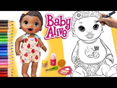 Pinturas Boneca Baby Alive Desenhos Para Brincar Colorir Lilly
