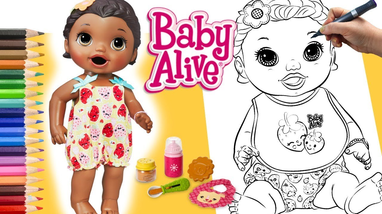 Pinturas Boneca Baby Alive Desenhos Para Brincar Colorir Lilly Baby Alive Valentina Brinquedos Youtube