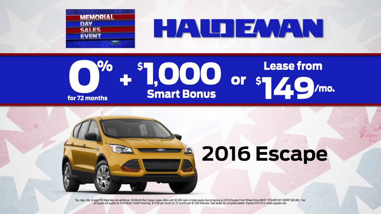 Haldeman Ford Memorial Day Sale YouTube - Haldeman ford car show