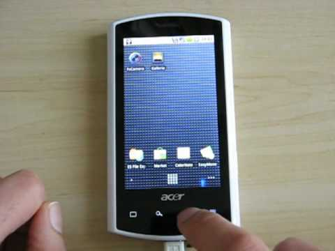 Testing Android 2.1 Eclair on Acer A1 Liquid