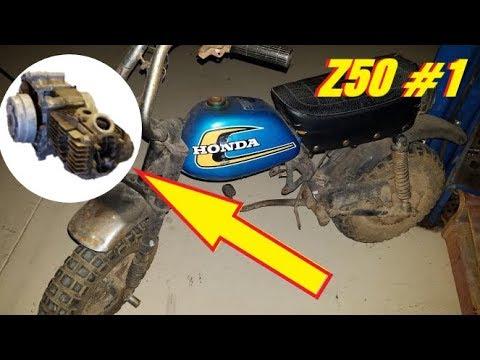 Vintage HONDA Z50 Engine TEAR DOWN and ASSESSMENT Part1
