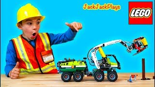 Unboxing and Pretend Play with Lego Forest Machine + JackJackPlays Cops and Robbers Intro