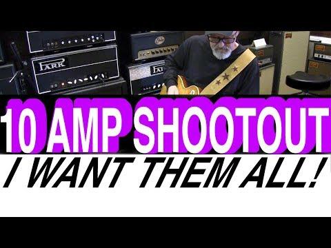 10 Amp Shootout   Tim Pierce   Pete Thorn   Gear Demo   LA Vintage Gear Burbank  