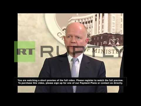 Ukraine: Russia must face 'consequences and costs' - Hague