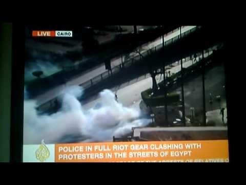 Uprising in Egypt, 28/1/2011 - Live Al Jazeera English footage (part 2)