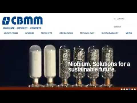 CBMM Maior produtora mundial do metal Nióbio.
