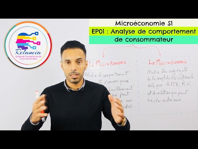 Microéconomie S1 #EP01 Analyse de Comportement de consommateur (RELANCIA)