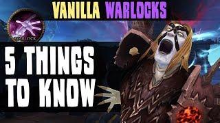WoW Classic - 5 Things WARLOCKS MUST KNOW [Cobrak]