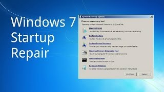 How to use Windows 7 Startup Repair by @Tech_Compass