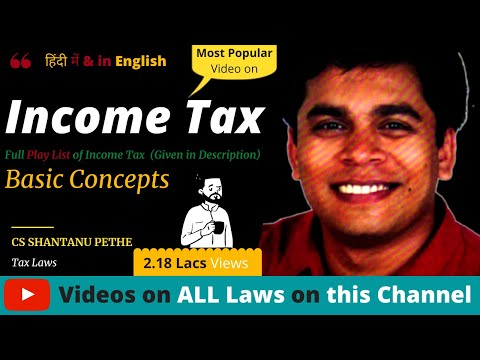 Income Tax : Basic Concepts (Part A) AY 2016-17