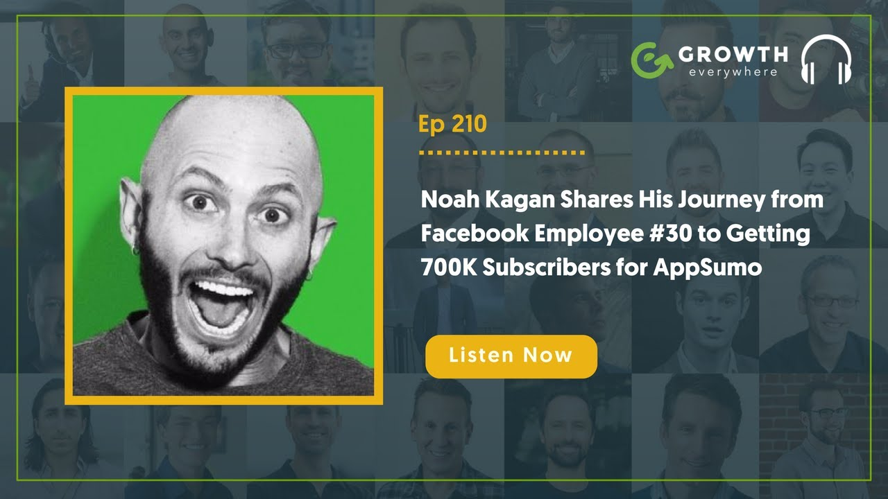 Noah kagan shares his journey from facebook employee 30 to noah kagan shares his journey from facebook employee 30 to getting 700k subscribers for appsumo malvernweather Image collections