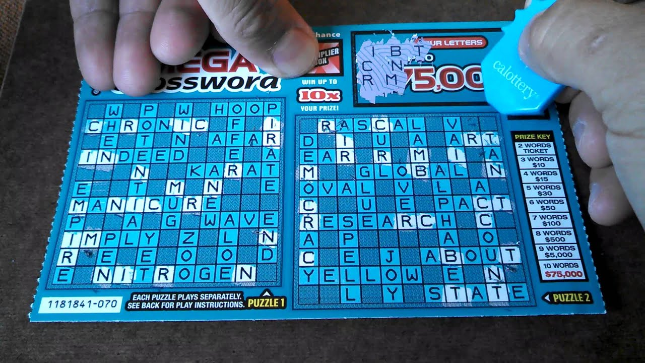 mega crossword scratcher ca lottery 5 ticket mega crossword scratcher ca lottery 5 ticket