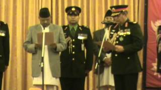 Gaurav Shumsher Rana sworn in as CoAS