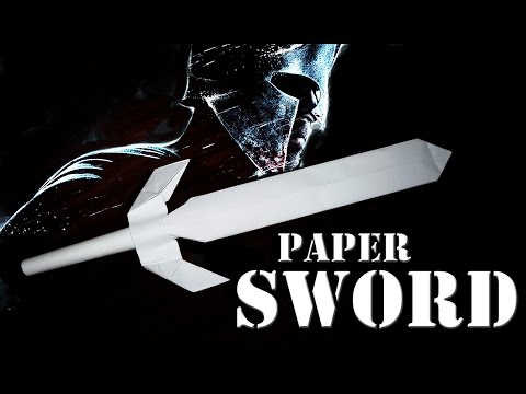 How to make a paper ninja sword - paper weapons