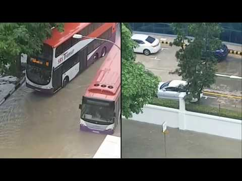Worst Floods in Singapore on 8th Jan 2018 Highlights
