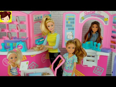 Thumbnail: Barbie and Her Sisters Work at The Post Office Playset - Toy Stories For Kids