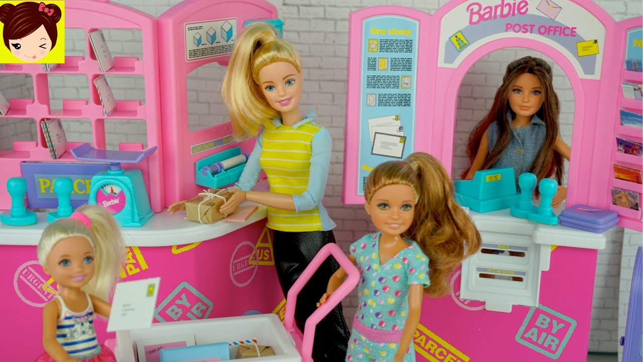 Barbie And Her Sisters Work At The Post Office Playset Toy Stories For Kids