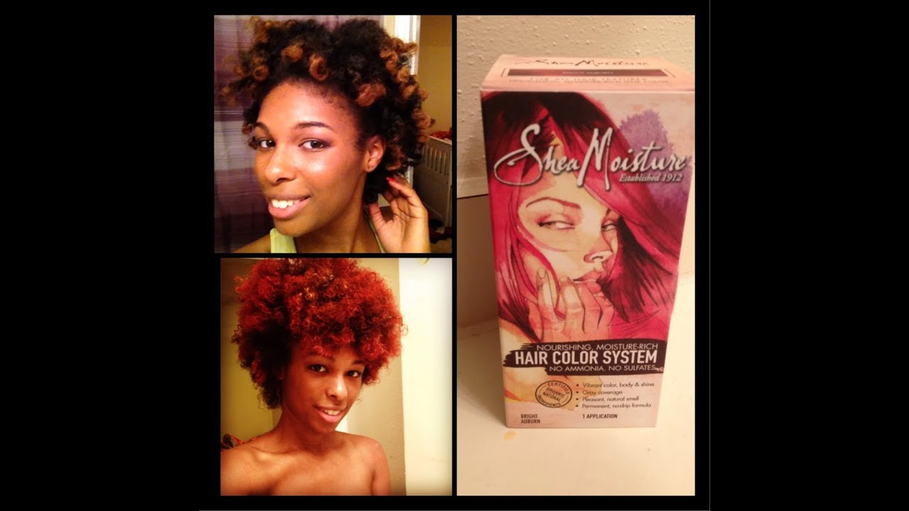 Shea Moisture Hair Color Quick Review Auburn Youtube