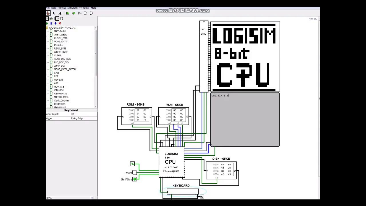 How to use the 8bit LOGISIM CPU