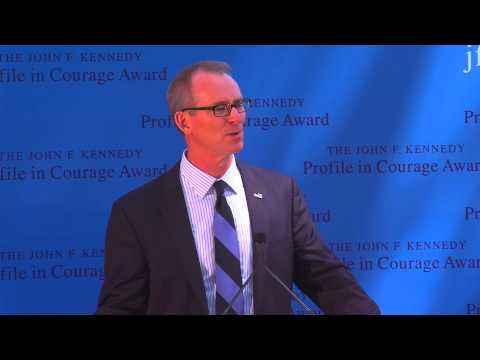 Jack Schlossberg and Bob Inglis, 2015 Profile in Courage Awa