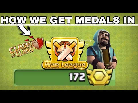 COC - How To Get Medals In Clan War League | New Update - COC - Clash Of Clans
