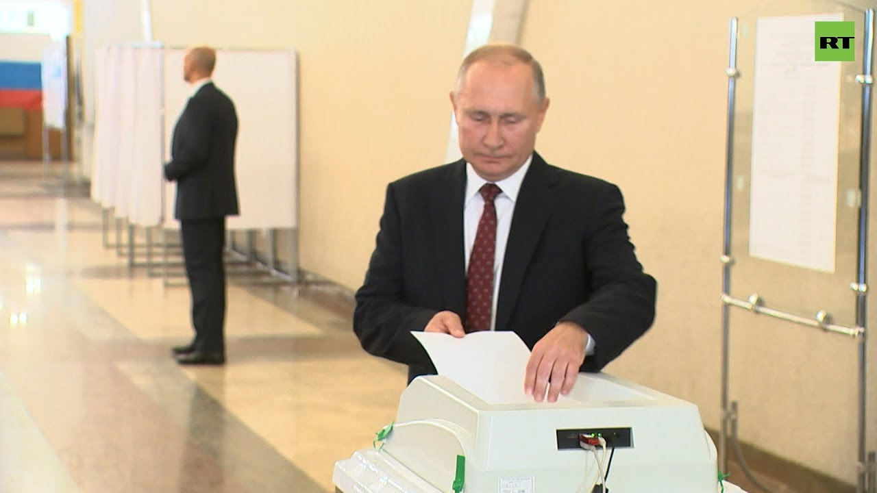 Путин проголосовал на выборах в Московскую городскую думу