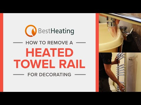 How To Remove a Heated Towel Rail for Decorating