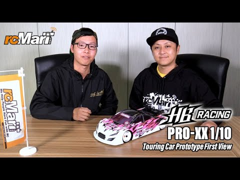 HB Racing Pro-XX 1/10 Touring Car Prototype First View - RcMart Interview With Atsushi Hara
