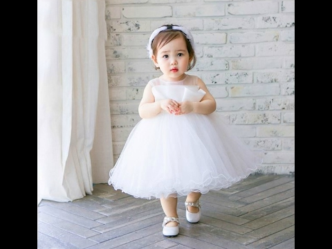 8160094b1977 Baby Girl White Dress - Communion dress - Flower girl dress (0-15 ...