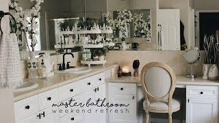 Organizing Our Master Bathroom | Simple Bathroom Update
