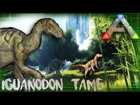 ARK | IGUANODON TAME | THE ISLAND | OFFICIAL SERVER GAMEPLAY