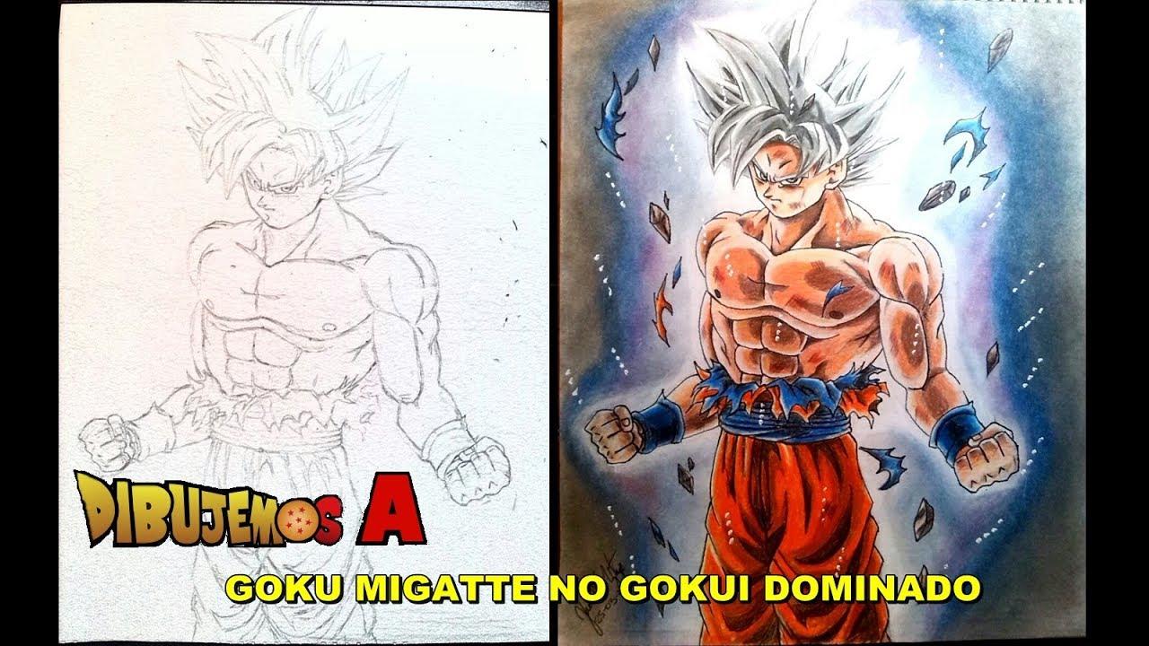 Como Dibujar Goku Ultra Instinto Dominado Reto Colores Escolares