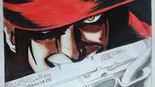 Speed drawing-  Alucard ( Hellsing )