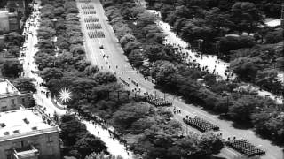 Francisco Franco reviews the military parade on 23rd anniversary of Spanish revol...HD Stock Footage