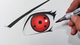 How To Draw The SHARINGAN Eye - Step By Step Tutorial