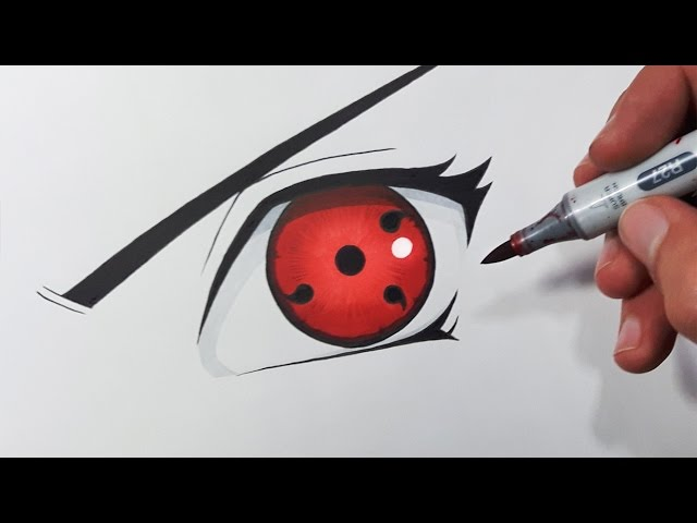 How To Draw The Sharingan Eye Step By Step Tutorial Youtube