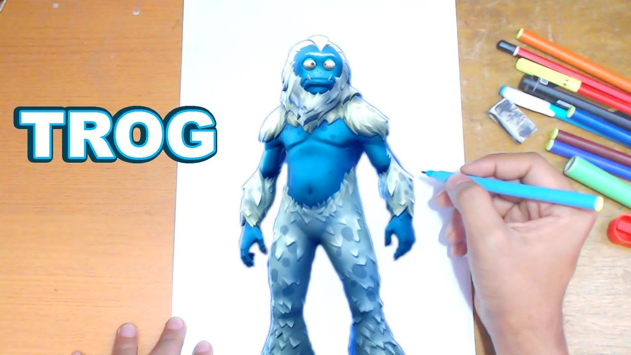Fortnite Drawing Trog How To Draw Trog Step By Step