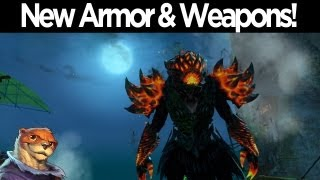 Guild Wars 2 - Bazaar of the Four Winds - Weapons & Armor Skin Preview