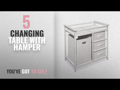 Top 10 Changing Table With Hamper [2018]: Badger Basket Modern Changing  Table With