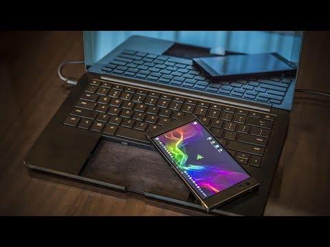 Игровой смартфон Razer со встроенным ноутбуком на Android