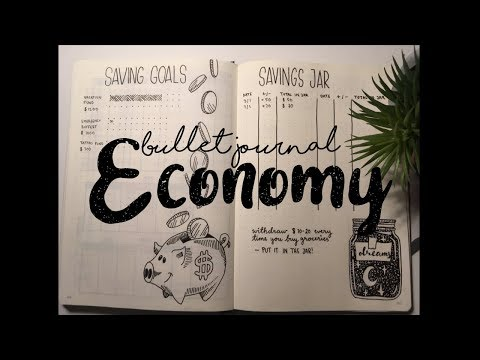 Bullet Journal // ECONOMY & FINANCE IDEAS // How to // Plan With Me