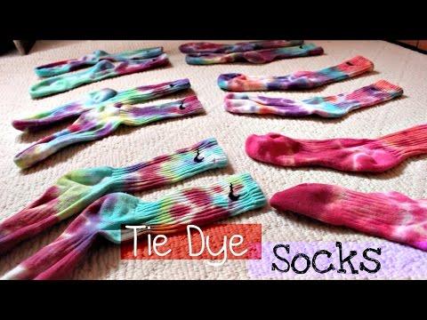 14cdc227a DIY | Tie Dye Nike Dri-Fit Socks - YouTube