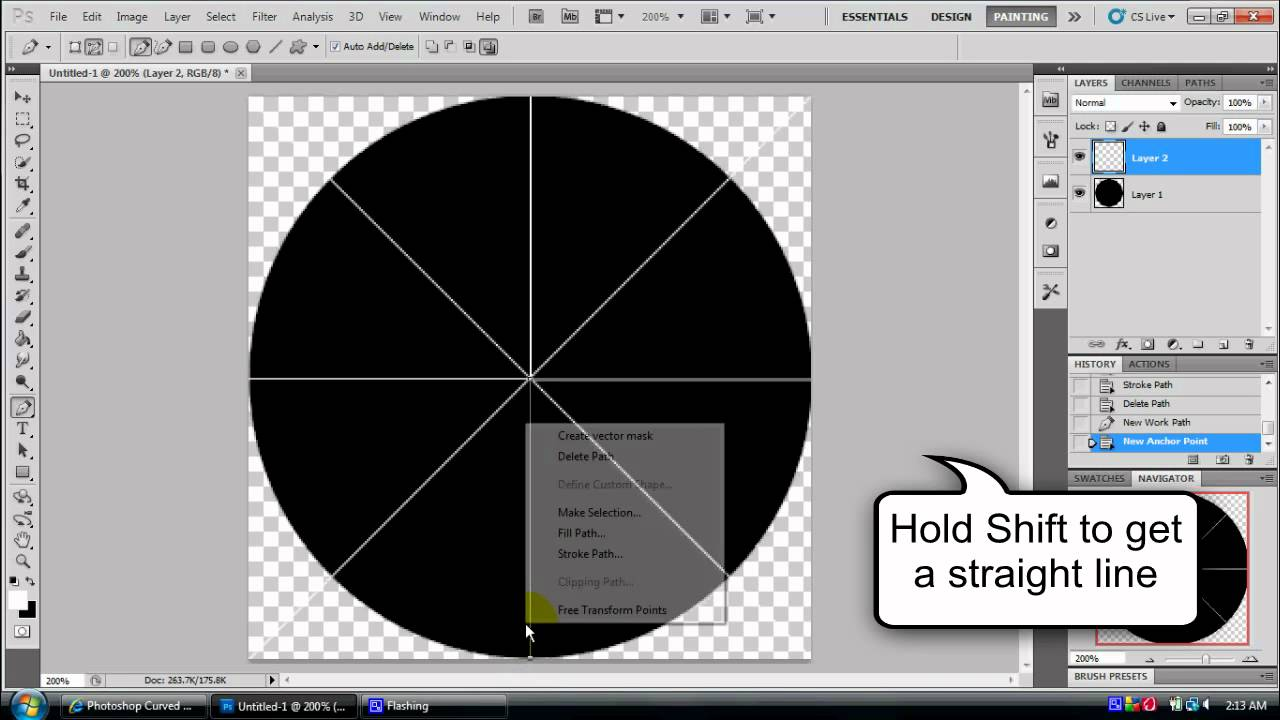 Photoshop tutorial cutting a circle into quarters youtube ccuart Images