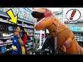 Naik Dinosaurus Ke Indomaret! Mbaknya NANGIS!! Prank Indonesia Yudist Ardhana!