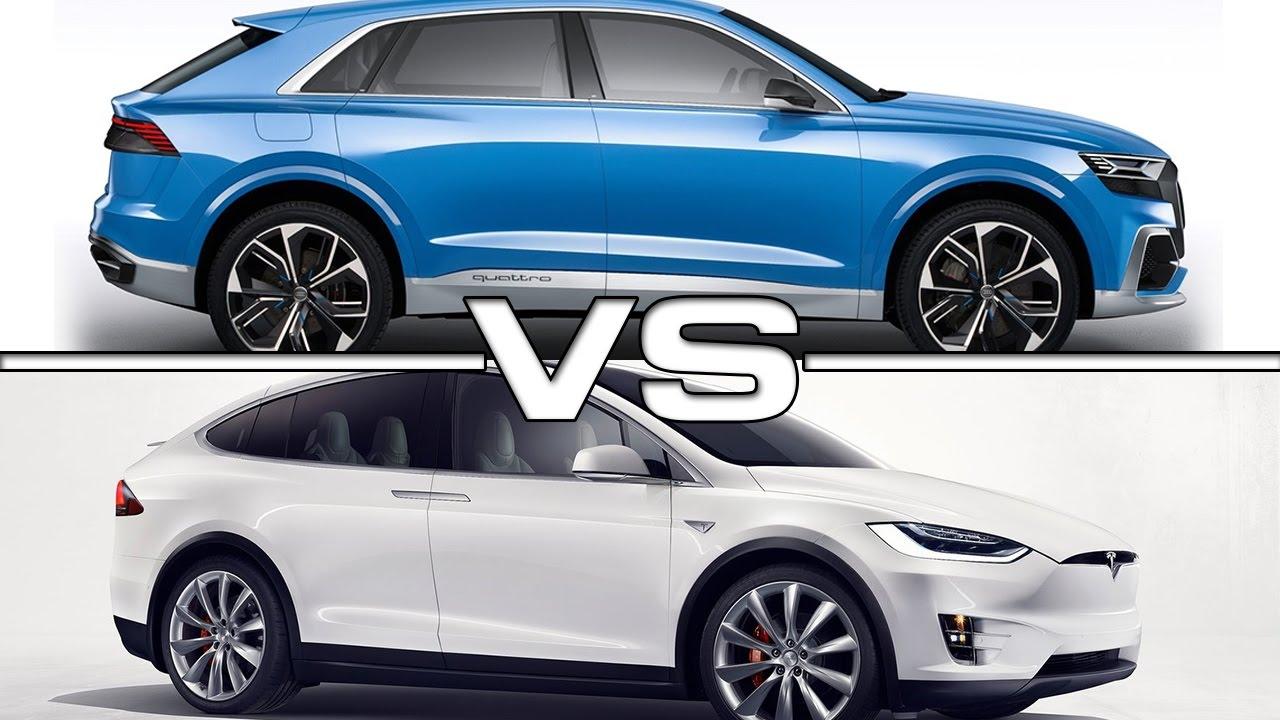 2016 Audi Q8 >> 2018 Audi Q8 Concept Vs 2016 Tesla Model X