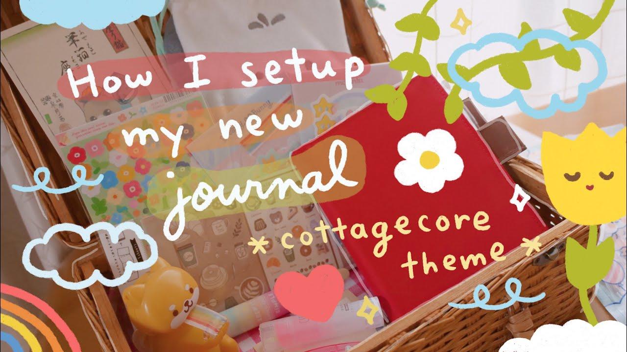 How I Setup My Journal (Cottagecore Theme 👒 🏠 🌷) | Hobonichi Techo 2021 | Rainbowholic