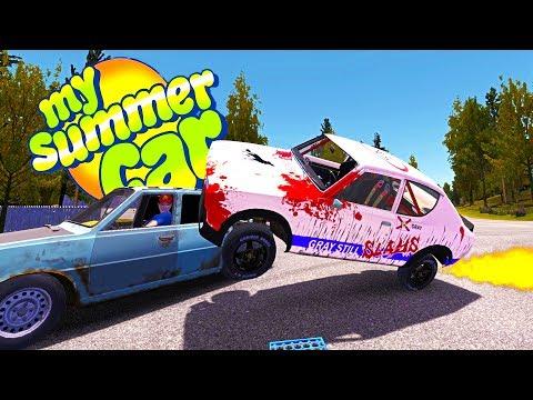 MY SUMMER NASCAR! NEW RACING PARTS + THE NEW CARBURETOR - My Summer Car Gameplay Highlights Ep 82